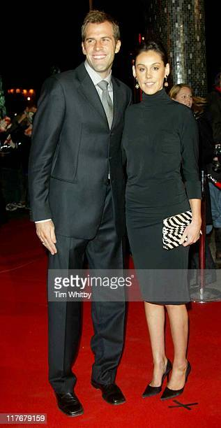 Greg Rusedski and wife Lucy during BBC 50th Sports Personality Of The Year Awards at BBC Television Centre in London, Great Britain.