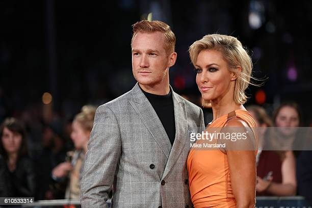 Greg Rutherford and Natalie Lowe arrive for the at European Premiere of Deepwater Horizon Cineworld Leicester Square on September 26 2016 in London...