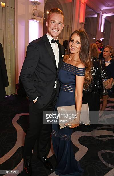 Greg Rutherford and Susie Verrill attend the Attitude Awards 2016 in association with Virgin Holidays at 8 Northumberland Avenue on October 10 2016...