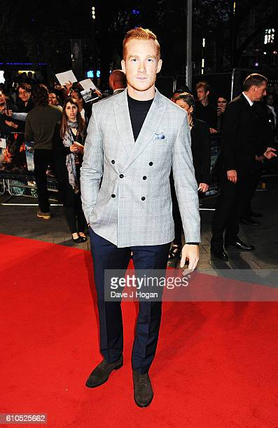 Greg Rutherford attends the European Premiere of Deepwater Horizon at Cineworld Leicester Square on September 26 2016 in London England