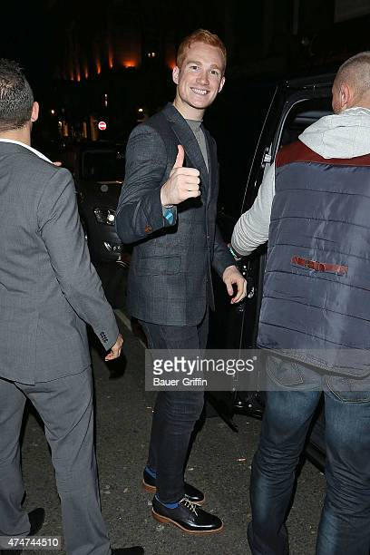 Greg Rutherford is seen leaving a nightclub on November 15 2012 in London United Kingdom