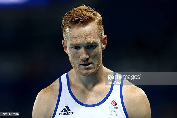 Greg Rutherford of Great Britain ahead of the Men's Long Jump Qualifying Round on Day 7 of the Rio 2016 Olympic Games at the Olympic Stadium on...