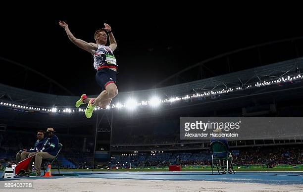 Greg Rutherford of Great Britain competes during the Men's Long Jump Final on Day 8 of the Rio 2016 Olympic Games at the Olympic Stadium on August 13...