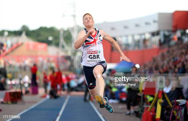 Greg Rutherford of Great Britain competes in the mens long jump during day one of the European Athletics Team Championships at Gateshead...