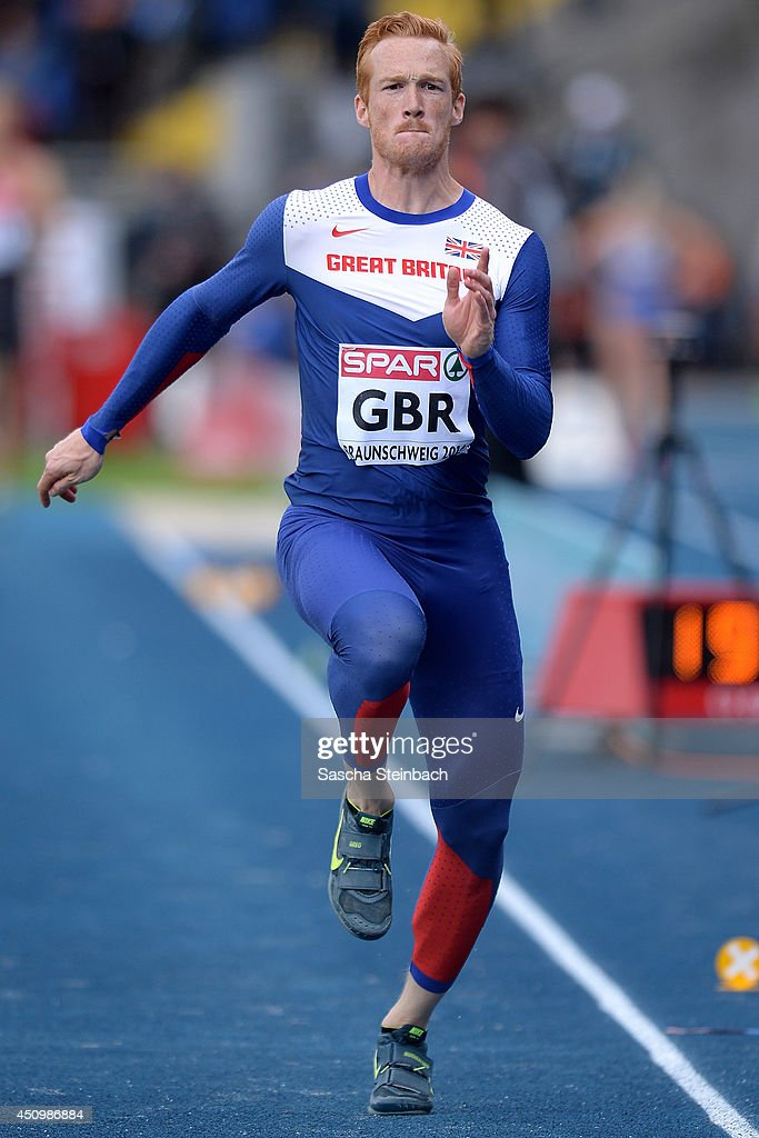 Greg Rutherford of Great Britain competes in the Men's Long Jump during first day of the European Athletics Team Championship at Eintracht Stadion on June 21, 2014 in Braunschweig, Germany.