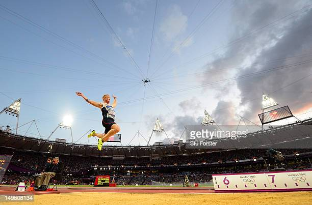 Greg Rutherford of Great Britain competes in the Men's Long Jump Final on Day 8 of the London 2012 Olympic Games at Olympic Stadium on August 4, 2012...