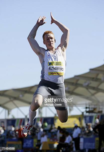 Greg Rutherford of Marshall Milton Keynes in action as he wins the Long Jump during the Norwich Union European Trials at the Manchester Regional...