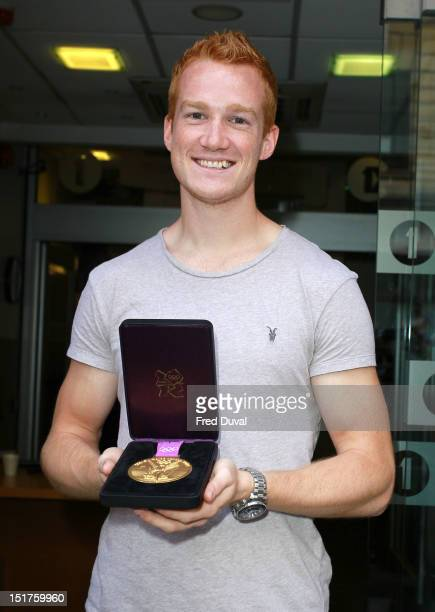 Greg Rutherford sighting outside BBc Radio One on September 11 2012 in London England