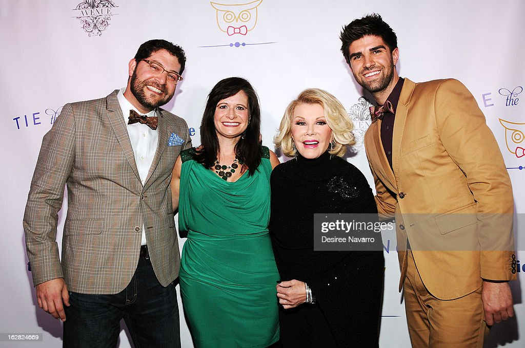 Greg Shugar, Gina Shugar, Joan Rivers and Justin Mikita attend Tie The Knot NYC at Avenue on February 27, 2013 in New York City.