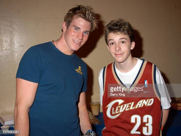 Greg Siff and Bobby Edner during Hollywood Knights Charity Basketball Game Burbank at Burbank High School in Burbank California United States