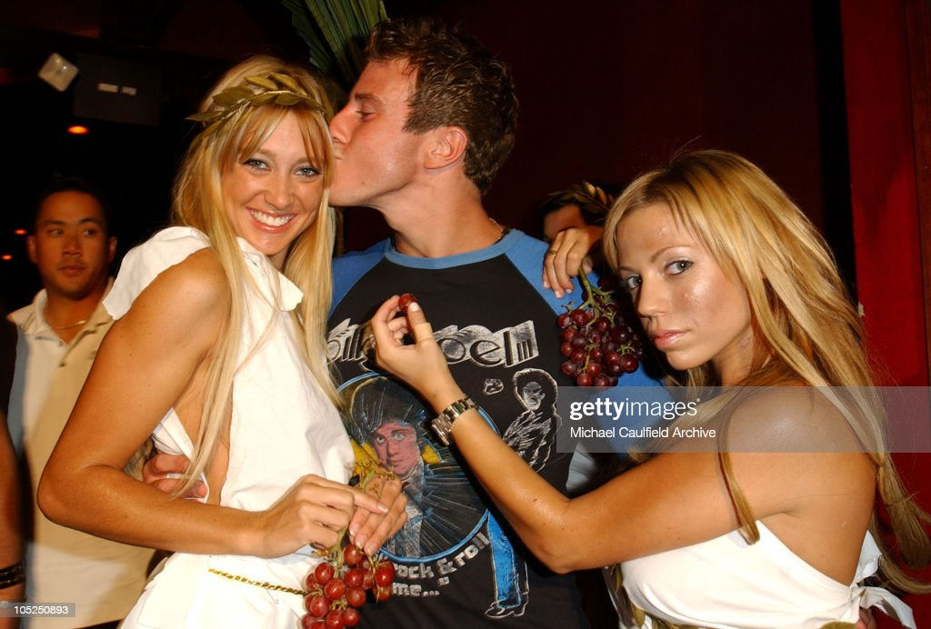 Greg Siff with Maxim Toga girls during Maxim - SoBe 'Double Secret Probation' Party at Club AD in West Hollywood, California, United States.