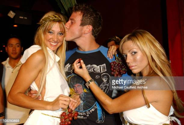 Greg Siff with Maxim Toga girls during Maxim SoBe Double Secret Probation Party at Club AD in West Hollywood California United States