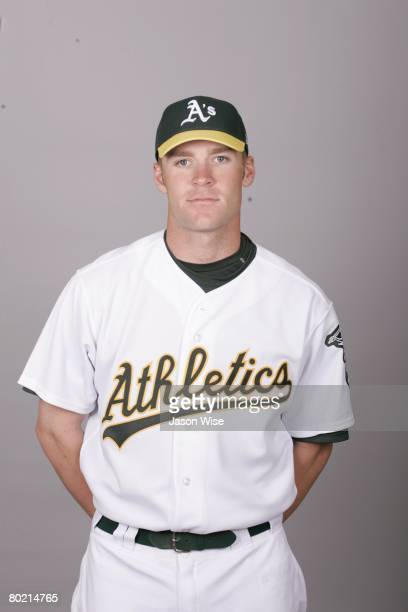 Greg Smith of the Oakland Athletics poses for a portrait during photo day at Phoenix Municipal Stadium on February 25 2008 in Phoenix Arizona