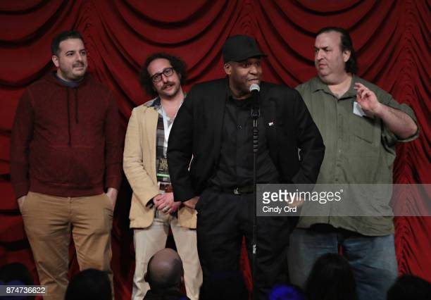 Greg Stone Ian Fidance Earl Douglas and Big A take part in SiriusXM host Ron Bennington's annual Thanksgiving Special at Hard Rock Cafe Times Square...