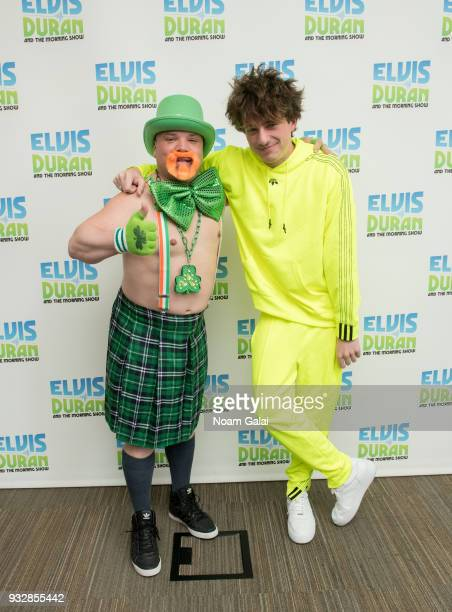 Greg T and Charlie Puth attend 'The Elvis Duran Z100 Morning Show' at Z100 Studio on March 16 2018 in New York City