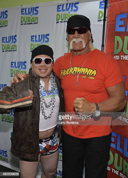 Greg T and Hulk Hogan during The Elvis Duran Z100 Morning Show at Z100 Studio on March 24 2014 in New York City