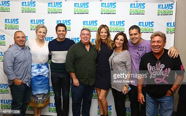 Greg T Bethany Watson actor James Marsden Elvis Duran actress Michelle Monaghan Danielle Monaro Skeery Jones and Uncle Johnny pose for photos during...