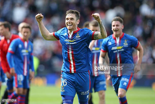Greg Tansey of Inverness Caledonian Thisle celebrates at full time during the William Hill Scottish Cup Final match between Falkirk and Inverness...