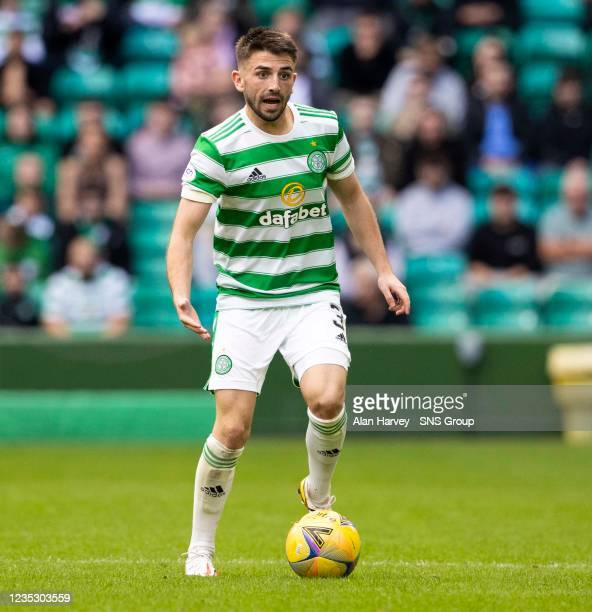 Greg Taylor in action for Celtic during a cinch Premiership match between Celtic and Ross County at Celtic Park on September 11 in Glasgow, Scotland