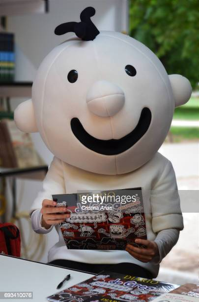 Greg the children's story character created by writer Jeff Kinney attends Book Fair 2017 at El Retiro Park on May 28 2017 in Madrid Spain