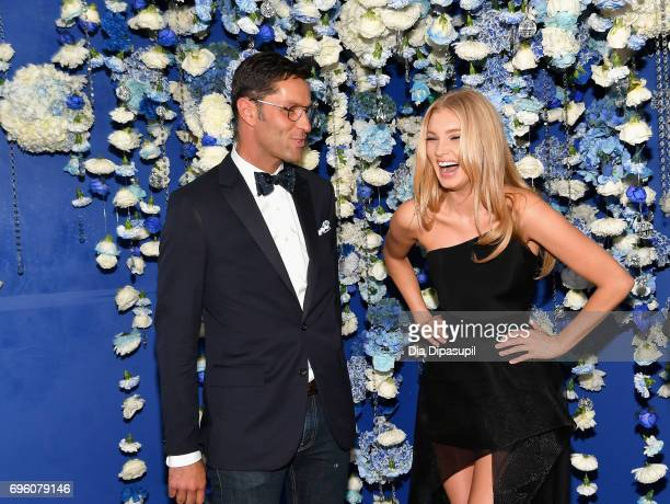 Greg Unis and Elsa Hosk attend the 2017 Fragrance Foundation Awards Presented By Hearst Magazines at Alice Tully Hall on June 14 2017 in New York City