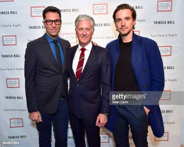Greg Unis David Kratz and Alexander Gilkes attend Tribeca Ball to benefit New York Academy of Art at New York Academy of Art on April 9 2018 in New...