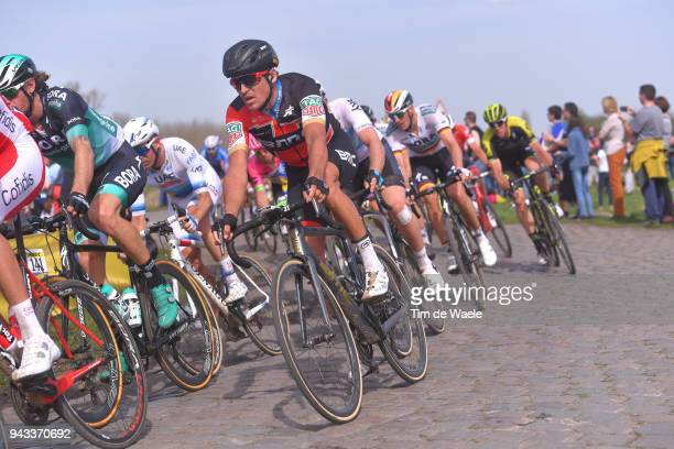 Greg Van Avermaet of Belgium and BMC Racing Team / during the 116th Paris Roubaix 2018 a 257km race from Compiegne to Roubaix on April 8 2018 in...