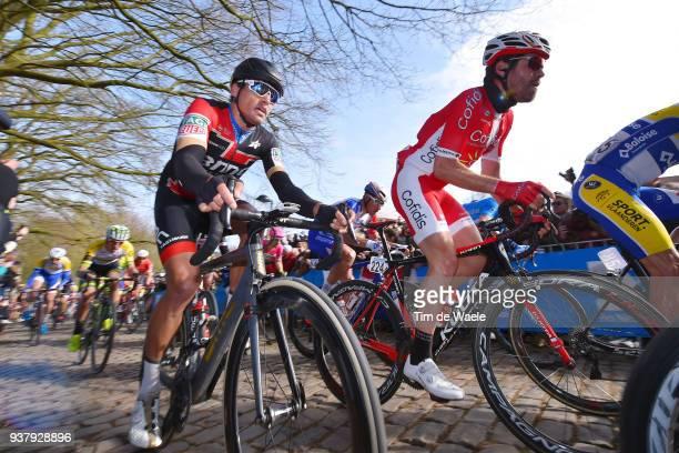 Greg Van Avermaet of Belgium and BMC Racing Team / during the 80th GentWevelgem In Flanders Fields 2018 a 2508km race from Deinze to Wevelgem on...