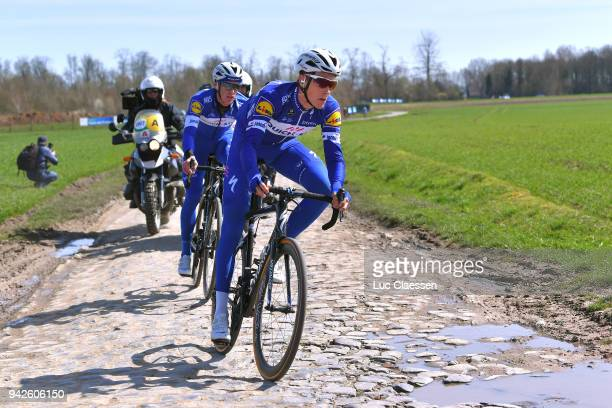 Greg Van Avermaet of Belgium and BMC Racing Team during training of 116th Paris to Roubaix 2018 on April 6 2018 in Arenberg France