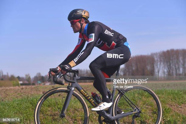 Greg Van Avermaet of Belgium and BMC Racing Team / during training of 116th Paris to Roubaix 2018 on April 6, 2018 in Arenberg, France.