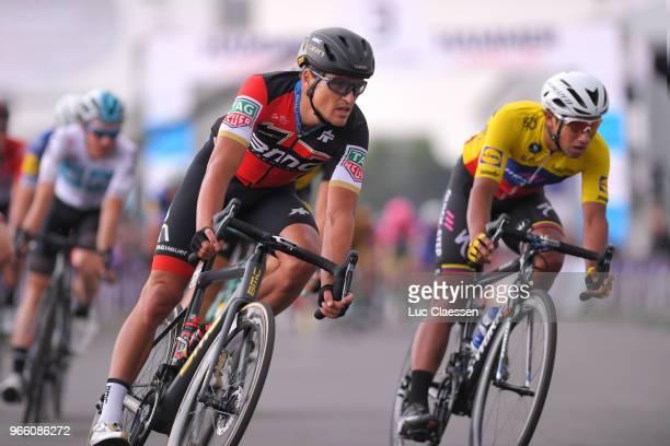 Greg Van Avermaet of Belgium and BMC Racing Team / Jhonatan Narvaez of Ecuador and Team QuickStep Floors / during the 3rd Velon Hammer Series 2018...