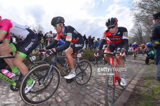 Greg Van Avermaet of Belgium and BMC Racing Team / Jurgen Roelandts of Belgium and BMC Racing Team / Koppenberg / Cobbles / during the 102nd Tour of...