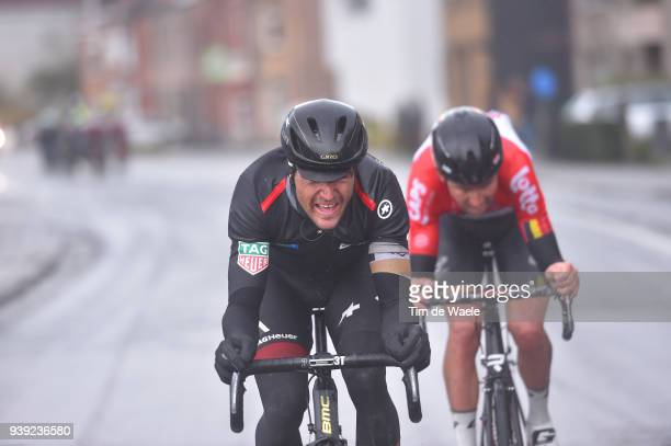 Greg Van Avermaet of Belgium and BMC Racing Team / Tiesj Benoot of Belgium and Team Lotto Soudal / during the 73rd Dwars door Vlaanderen 2018 a...