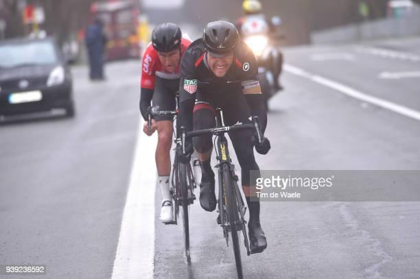 Greg Van Avermaet of Belgium and BMC Racing Team / Tiesj Benoot of Belgium and Team Lotto Soudal / during the 73rd Dwars door Vlaanderen 2018 a...