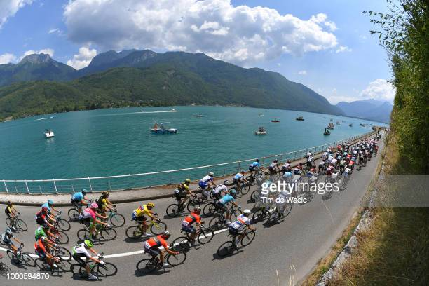 Greg Van Avermaet of Belgium and BMC Racing Team Yellow Leader Jersey / Annecy Lake / Peloton / Landscape / during the 105th Tour de France 2018 /...