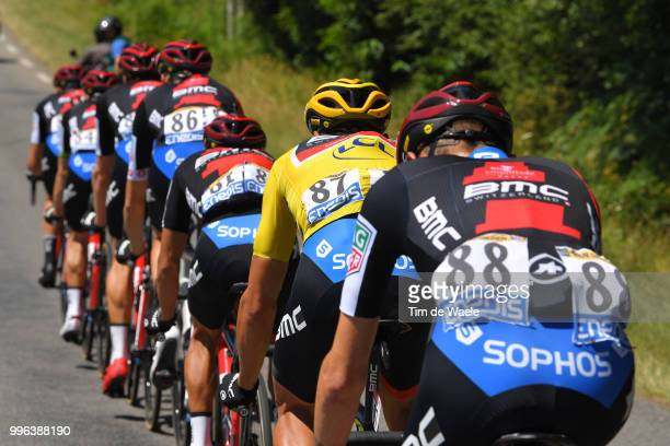 Greg Van Avermaet of Belgium and BMC Racing Team Yellow Leader Jersey / Richie Porte of Australia and BMC Racing Team / during the 105th Tour de...
