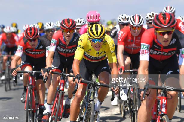 Greg Van Avermaet of Belgium and BMC Racing Team Yellow Leader Jersey during the 105th Tour de France 2018, Stage 9 a 156,5 stage from Arras...