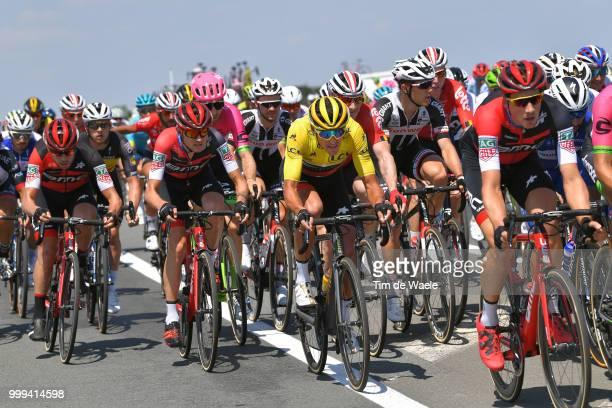 Greg Van Avermaet of Belgium and BMC Racing Team Yellow Leader Jersey / Tejay Van Garderen of The United States and BMC Racing Team / during the...