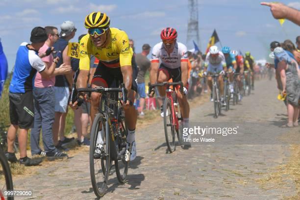 Greg Van Avermaet of Belgium and BMC Racing Team Yellow Leaders Jersey / John Degenkolb of Germany and Team Trek Segafredo / during the 105th Tour de...