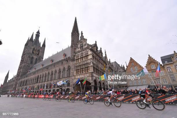 Greg Van Avermaet of Belgium and BMC Racing Team / Zdenek Stybar of Czech Republic and Team Quick-Step Floors / Ieper Town Hall / Landscape / during...
