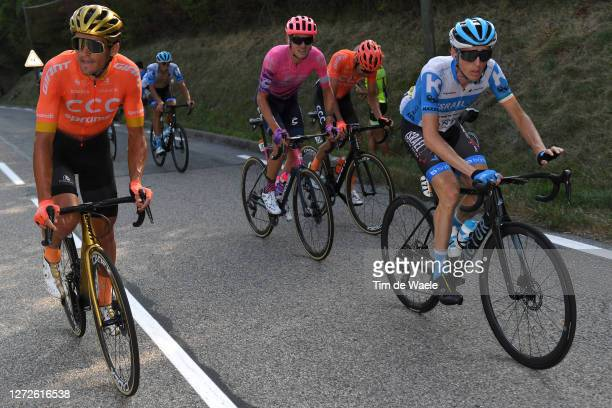 Greg Van Avermaet of Belgium and CCC Team / Tejay Van Garderen of The United States and Team EF Pro Cycling / Daniel Martin of Ireland and Team...