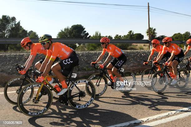 Greg Van Avermaet of Belgium and CCC Team / Victor De La Parte of Spain and CCC Team / Alessandro De Marchi of Italy and CCC Team / Serge Pauwels of...
