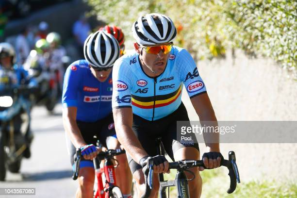 Greg Van Avermaet of Belgium / Damiano Caruso of Italy / Omar Fraile of Spain / during the Men Elite Road Race a 2585km race from Kufstein to...