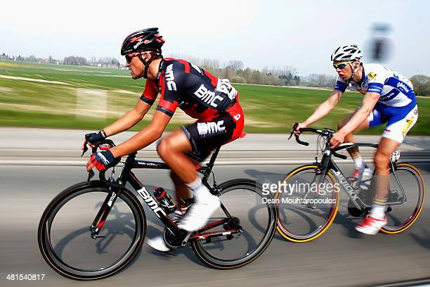 Greg Van Avermaet of the Netherlands competes in the E3 Harelbeke Cycle Race on March 28 2014 in Harelbeke Belgium