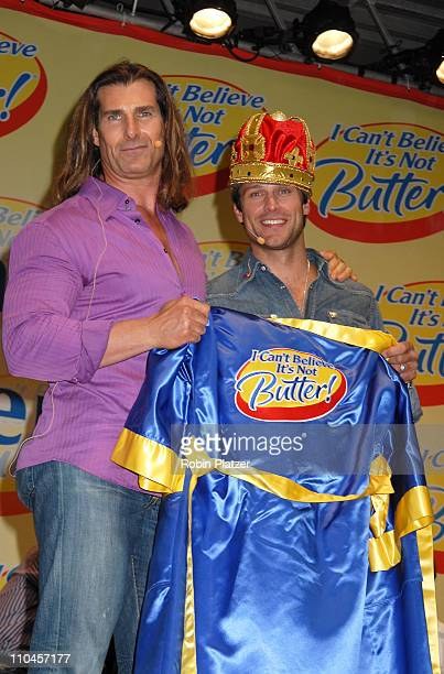 Greg Vaughan and Fabio aftering being announced as the winner