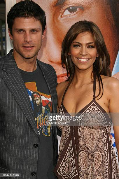 Greg Vaughan and his wife Touriya Vaughan during Click Los Angeles Premiere at Mann Village Theater in Westwood California United States
