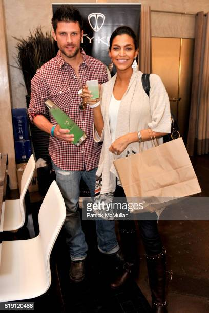 Greg Vaughan and Touriya Haoud attend Silver Spoon Presents Oscar Weekend Red Cross Event For Haiti Relief Day 2 at Interior Illusions on March 4...