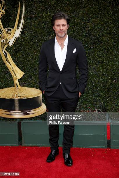 Greg Vaughan attends the 45th annual Daytime Emmy Awards at Pasadena Civic Auditorium on April 29 2018 in Pasadena California