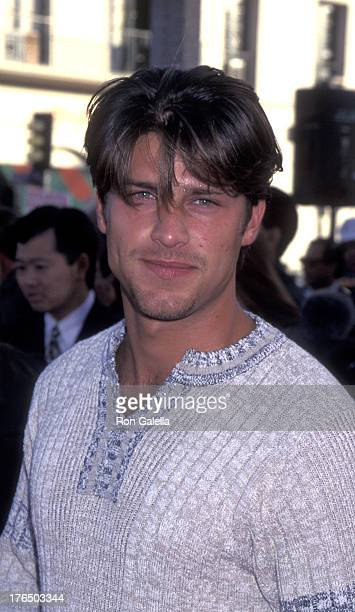 Greg Vaughan attends the world premiere of Twister on May 8 1996 at Mann Village Theater in Westwood California
