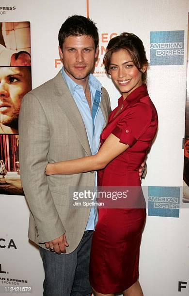 Greg Vaughn and Touriya Haoud during 5th Annual Tribeca Film Festival Five Fingers Premiere Outside Arrivals at TPAC in New York City New York United...